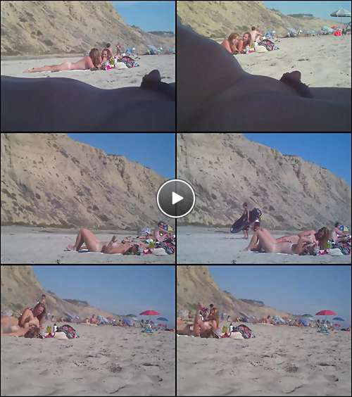 coed nude beach video video